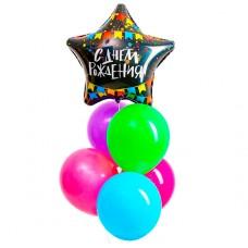 Букет из шаров С  Днем рождения, ла...
