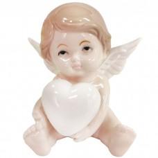 Сувенир фарфоровый Ангел с сердцем ...