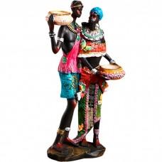 Сувенир подсвечник Африканская пара...