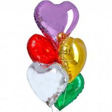 Букет из фольгированных шаров Сердц...