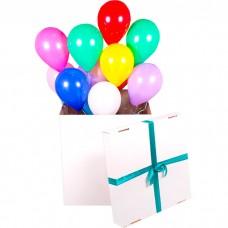 Коробка сюрприз с шарами  латексным...