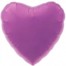 Шар фольгированный Сердце фиолетово...