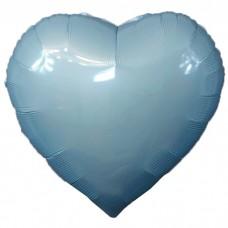 Шар фольгированный Сердце голубое