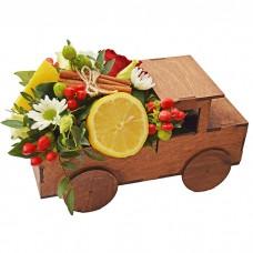 Ящик Автомобиль с цветами