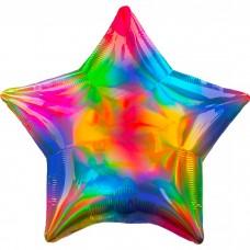 Шар фольгированный Звезда, разноцве...