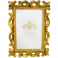 Фоторамка Завитки 10х15 см, золото