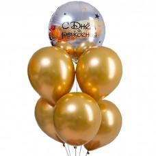Набор шаров С днём рождения, золото...